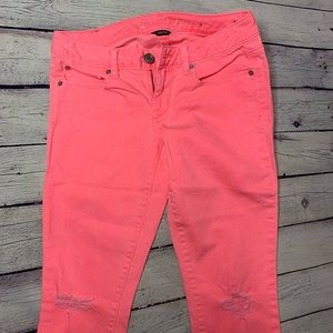 Neon Distressed Jeans Skinny size 4